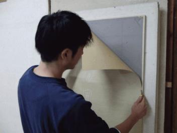 古い襖(ふすま)のメンテナンス