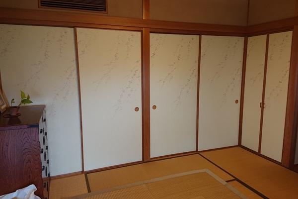 福岡県大野城市のK様邸の襖の張り替え